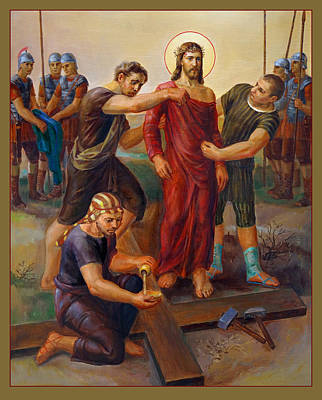 Liturgical Painting - Via Dolorosa - Disrobing Of Christ - 10 by Svitozar Nenyuk