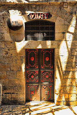 Religious Art Photograph - Via Dolorosa Station Vii by Stephen Stookey