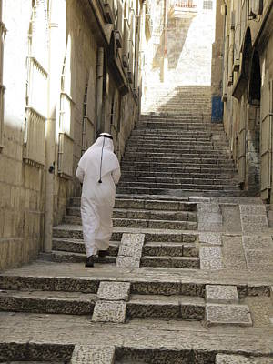 Photograph - Via Dolorosa Steps by Donna L Munro