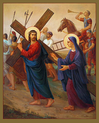 Liturgical Painting - Via Dolorosa - The Way Of The Cross - 4 by Svitozar Nenyuk