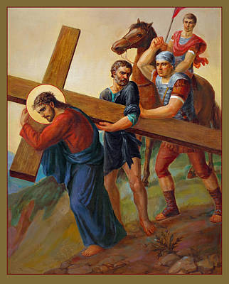 Liturgical Painting - Via Dolorosa - Way Of The Cross - 5 by Svitozar Nenyuk