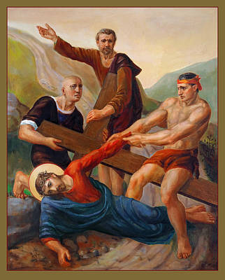 Painting - Via Dolorosa - Way Of The Cross - 9 by Svitozar Nenyuk