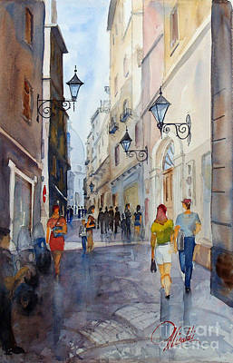 Painting - Via Garibaldi by Gerald Miraldi