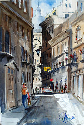 Painting - via Giardinetti  by Gerald Miraldi