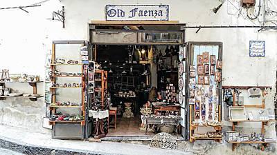 Digital Art - Via Pietro Capuano Shopping - Amalfi, Italy by Joseph Hendrix