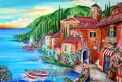 Painting - Via Positano By The Lake by Roberto Gagliardi