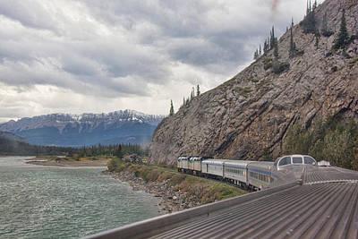 Photograph - Via Rail In The Canadian Rockies by John Black
