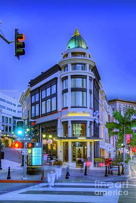 Photograph - Via Rodeo Beverly Hills Night Lit by David Zanzinger