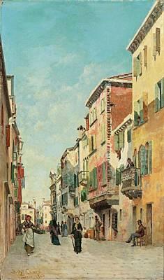 Kingdom Painting - Via San Giorgio Degli Schiavoni by MotionAge Designs