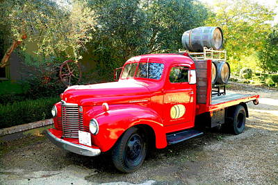 Photograph - Viaggio Winery Truck And Barrels by Joyce Dickens