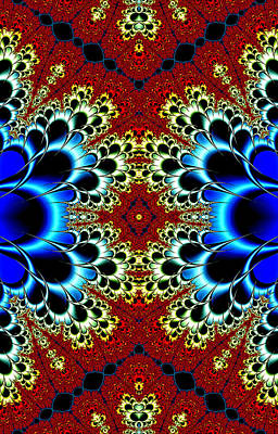 Digital Art - Vibrancy Fractal Cell Phone Case by Lea Wiggins