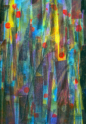Colored Pencil Abstract Mixed Media - Vibrancy Within by Anne Rickard