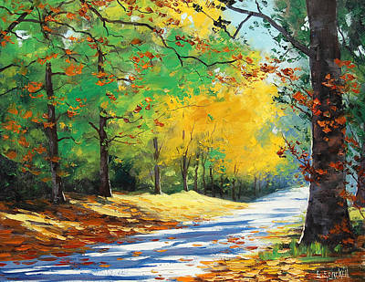 Elm Painting - Vibrant Autumn by Graham Gercken