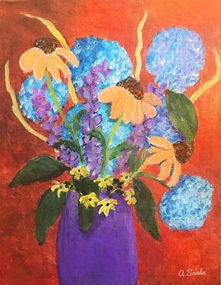 Painting - Vibrant Bouquet by Anne Sands