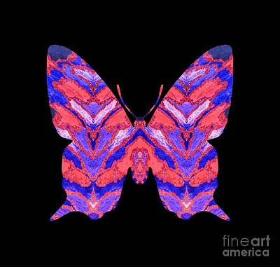 Digital Art - Vibrant Butterfly  by Rachel Hannah