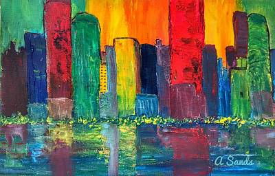 Painting - Vibrant Cityscape by Anne Sands