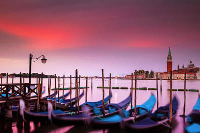 Photograph - Vibrant Dawn Over Venice by Andrew Soundarajan