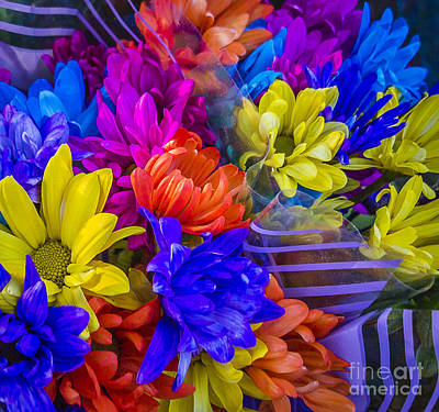 Photograph - Vibrant Flower Bouquet by Joann Long