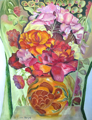 Painting - Vibrant Flowers by Lisa Boyd