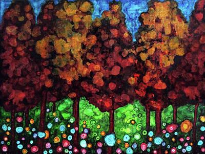 Painting - Vibrant Forest by Jennifer Allison