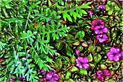 Digital Art - Vibrant Garden by Terry Cork