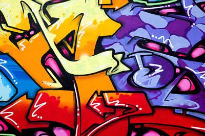 Vandalism Photograph - Vibrant Graffiti by Richard Thomas