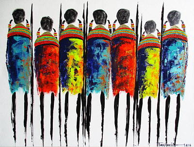 Painting - Vibrant Masai 2 by Tracey Armstrong