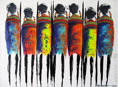 Painting - Vibrant Masai by Tracey Armstrong