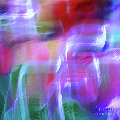 Photograph - Vibrant Moods Abstract Square by Karen Adams
