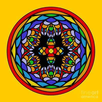Digital Art - Vibrant Pattern Orb By Kaye Menner by Kaye Menner