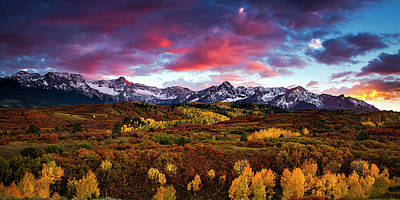 Vibrant Rockies Sunset Art Print by Andrew Soundarajan
