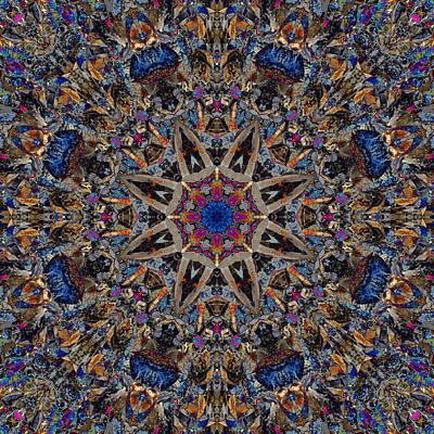 Vibrant Rocks Mandala 2 Art Print by Marv Vandehey