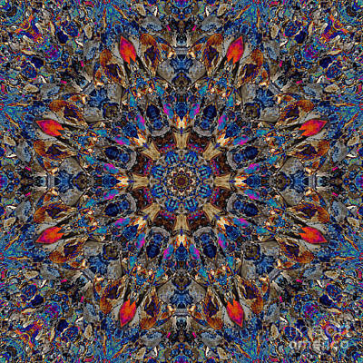 Vibrant Rocks Mandala Art Print by Marv Vandehey