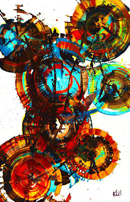 Vibrant Sphere Series 995.042312vsx2 Art Print by Kris Haas