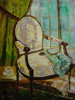Vibrant Still Life Paintings - Afternoon Repose - Virgilla Art Art Print by Virgilla Lammons