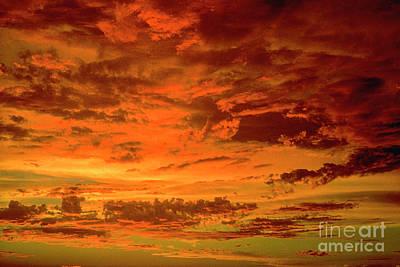 Photograph - Vibrant Sunset by David Zanzinger