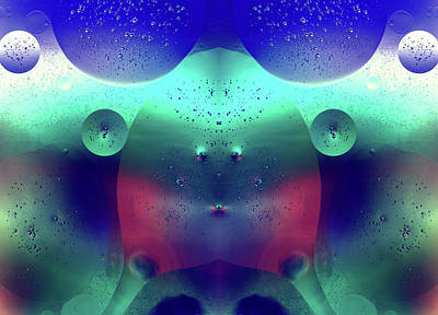 Photograph - Vibrant Symmetry Oil Droplets by John Williams