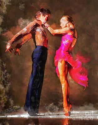 Vibrant Tango Art Print by Shirley Stalter