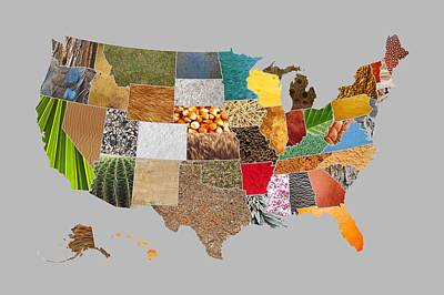 Vibrant Textures Of The United States Print by Design Turnpike