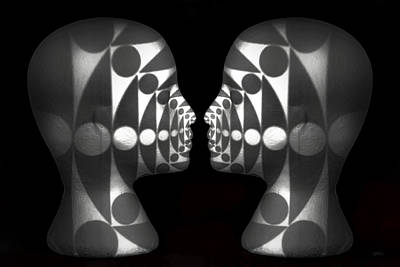 Kisses Digital Art - Vibrating Forms by Jeff  Gettis