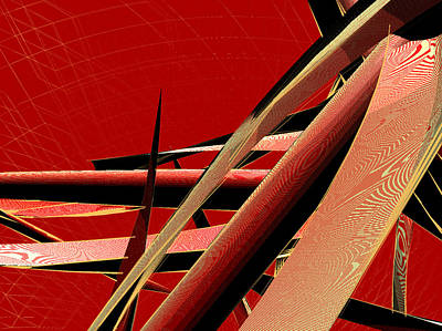 Abstrakt Digital Art - Vibrating Reed 01 by Joerg Bernhard Klemmer