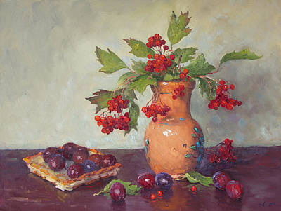 Keith Richards - Viburnum and plums by Alexander Alexandrovsky