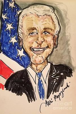 Politicians Mixed Media - Vice President Joe Biden by Geraldine Myszenski