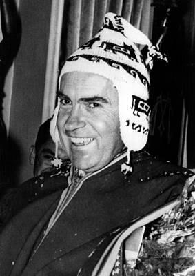 1950s Candids Photograph - Vice President Richard Nixon 1913-1994 by Everett