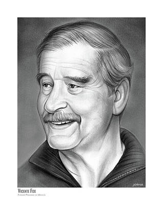 Drawing - Vicente Fox by Greg Joens
