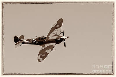 Modern Sophistication Beaches And Waves Royalty Free Images - Vickers Supermarine Spitfire Mk IX - in flight Royalty-Free Image by Robert McAlpine