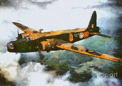 Hurricane Painting - Vickers Wellington Bomber, Wwii by Mary Bassett