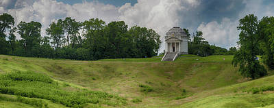 Vicksburg National Military Park Panorama - Illinois Memorial Art Print