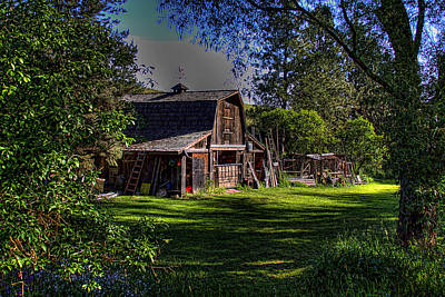 Barn Photograph - Vic's Barn II by David Patterson