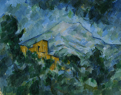 Victoire And Chateau Noir Print by Paul Cezanne